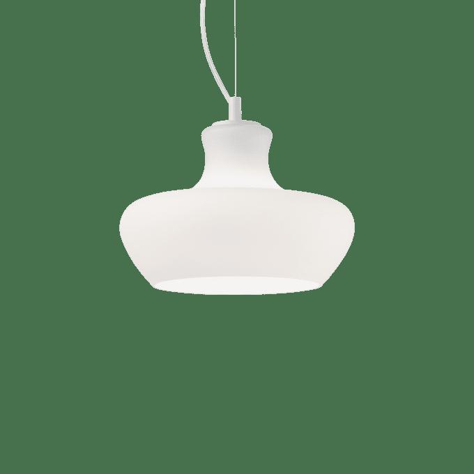 Lámpara colgante de Vidrio Soplado y color Blanco