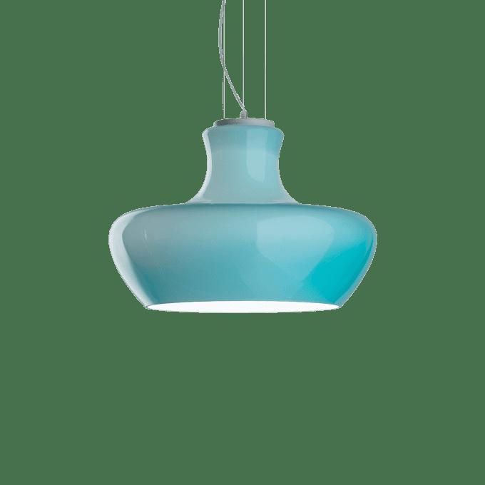 Lámpara colgante de Vidrio Soplado y color Azul
