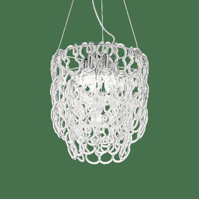 Lámpara colgante de Cristal y color Cromo