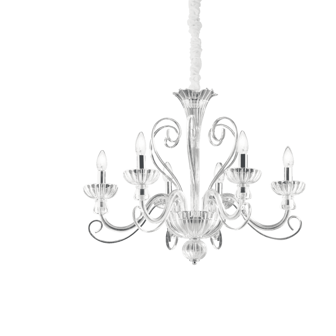 Lámpara colgante de Cristal y color Transparente