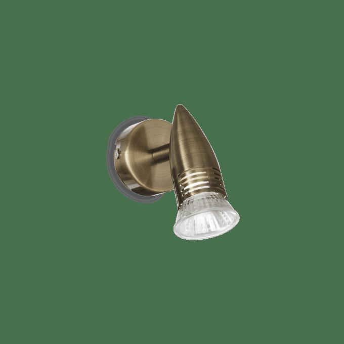Lámpara de pared de Hierro y color Bronce