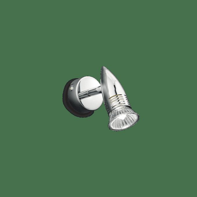 Lámpara de pared de Hierro y color Cromo