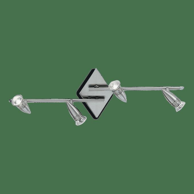 Lámpara de techo de Hierro y color Niquel