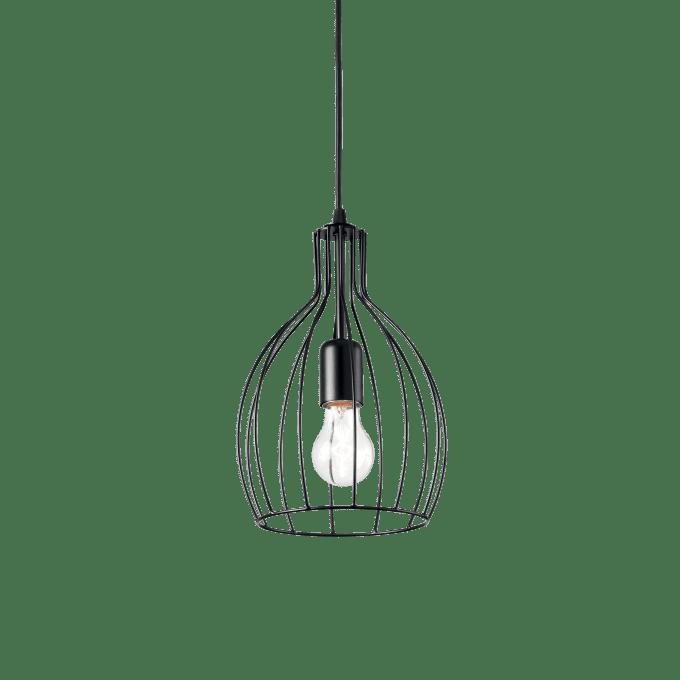 Lámpara colgante de Hierro y color Negro