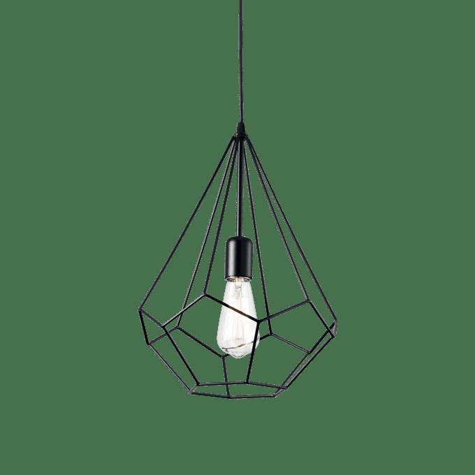 Lámpara colgante de Hierro y color Blanco