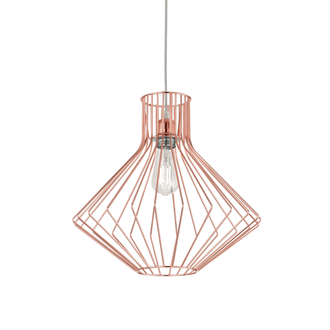 Lámpara colgante de Hierro y color Cobre