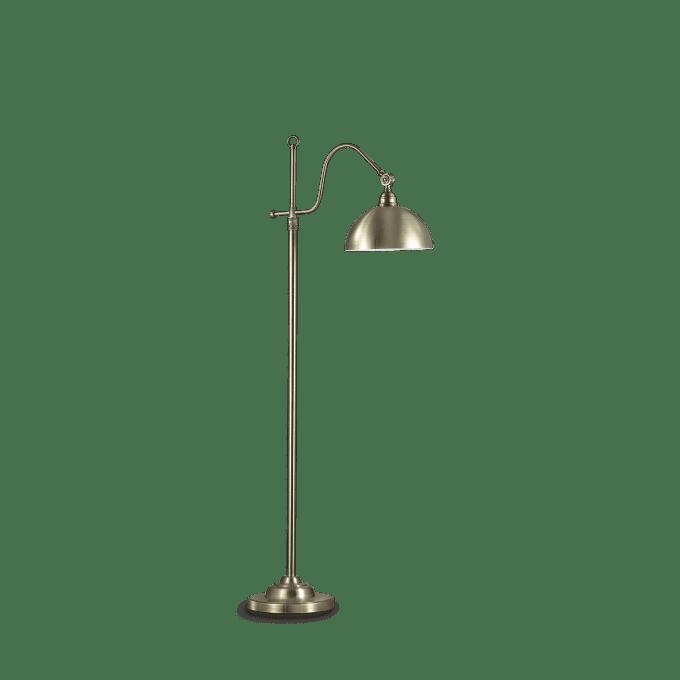 Lámpara de pie de Hierro y color Bronce