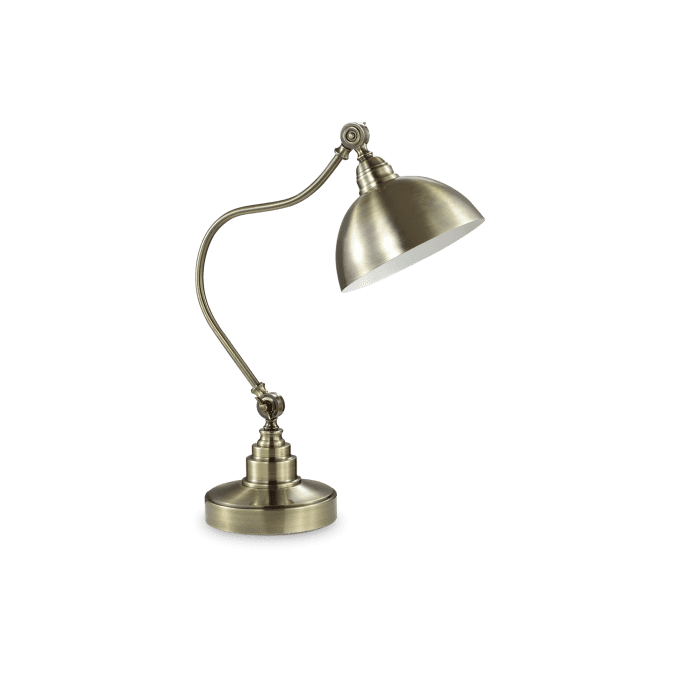 Lámpara de sobremesa de Hierro y color Bronce