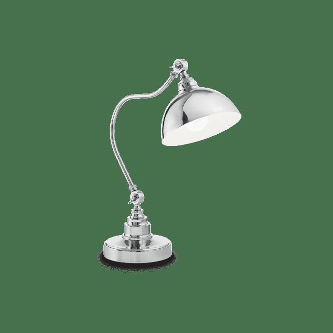 Lámpara de sobremesa de Hierro y color Cromo