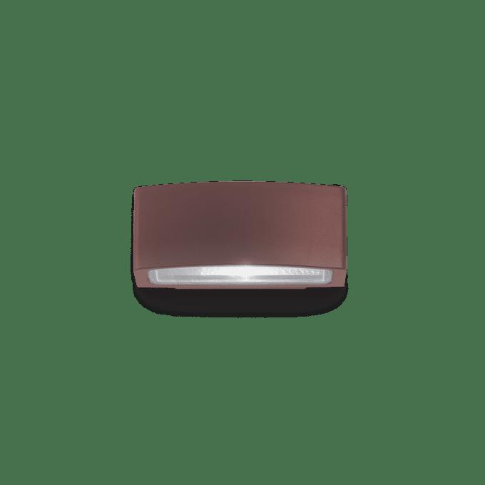Lámpara de pared de Aluminio y color Café