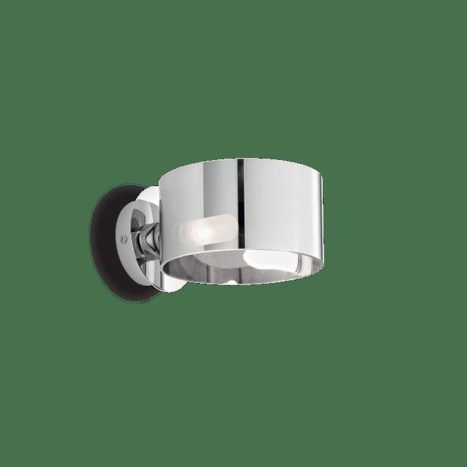Lámpara de pared de Vidrio Soplado y color Cromo