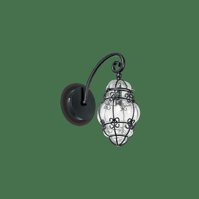 Lámpara de pared de Cristal y color Negro