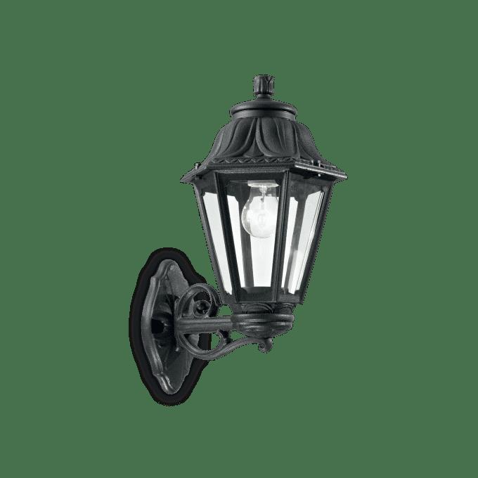 Lámpara de pared de Resina y color Negro