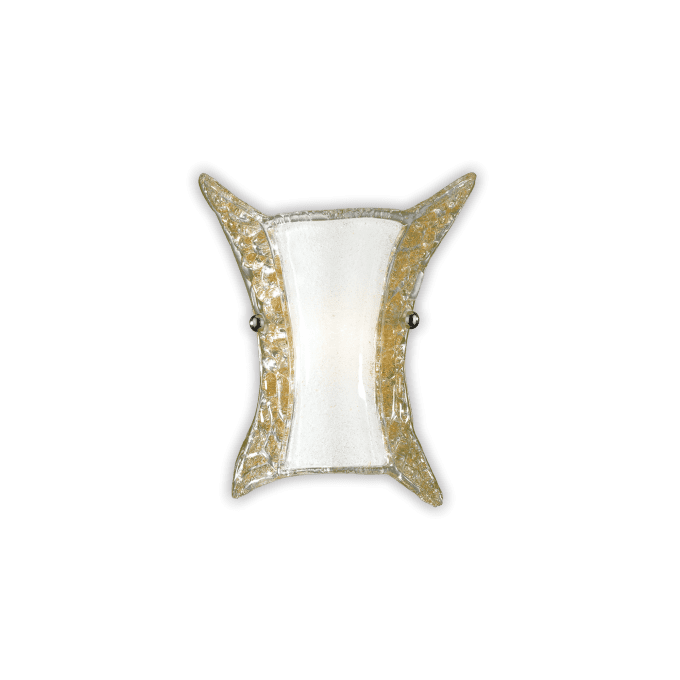 Lámpara de pared de Cristal y color Ambar