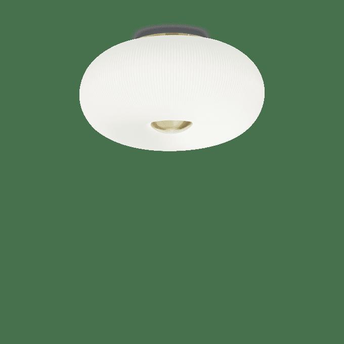 Lámpara de techo de Cristal y color Latón