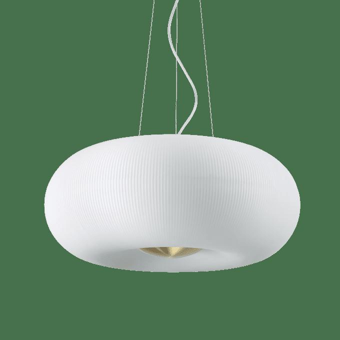Lámpara colgante de Cristal y color Blanco