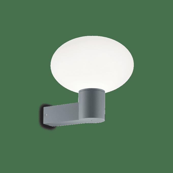 Lámpara de pared de Aluminio y color Gris