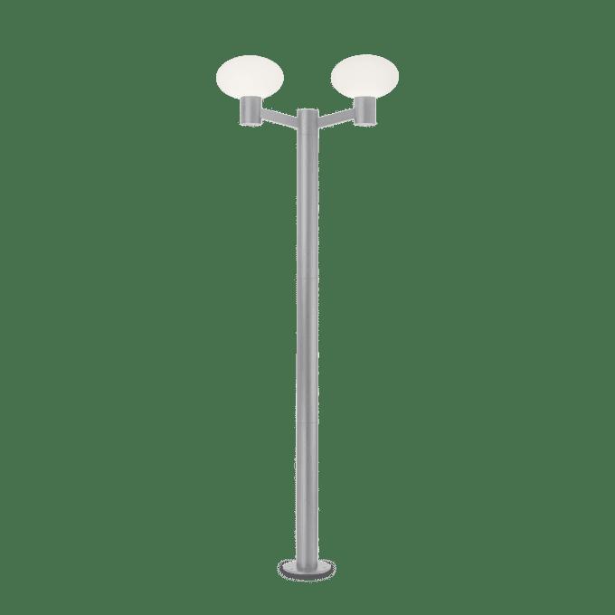 Lámpara de pie de Aluminio y color Gris