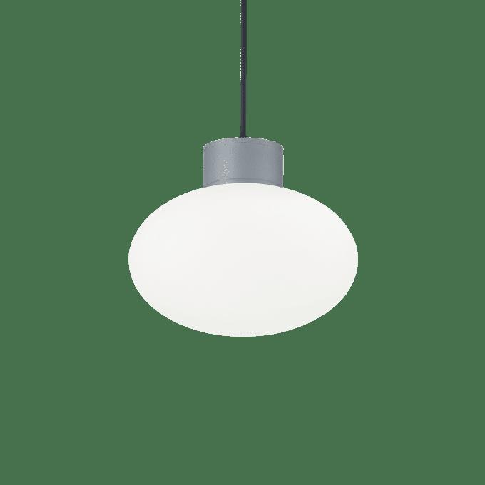 Lámpara colgante de Aluminio y color Gris