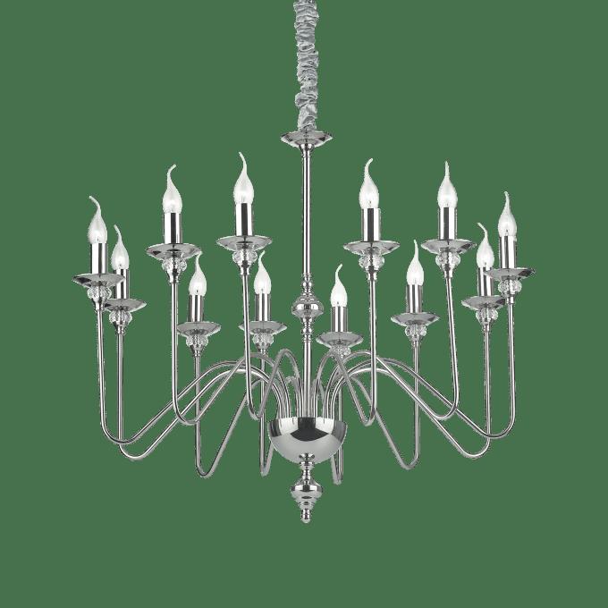 Lámpara colgante de Hierro y color Niquel