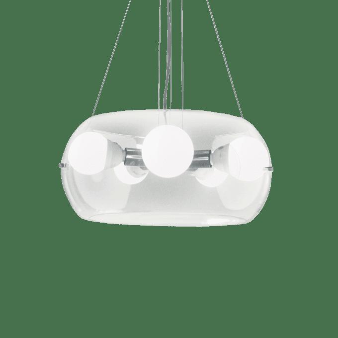 Lámpara colgante de Vidrio Soplado y color Transparente