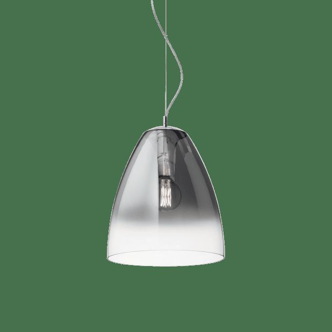 Lámpara colgante de Vidrio Soplado y color Cromo