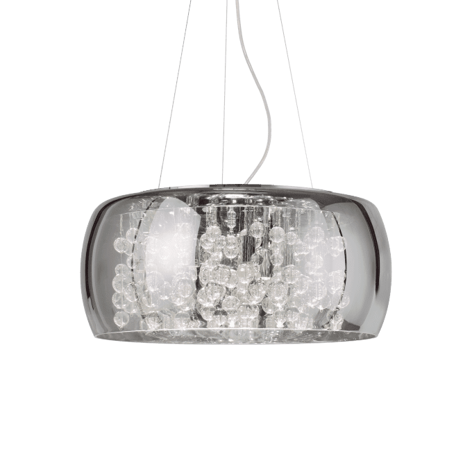 Lámpara colgante de Vidrio Soplado y color Fumé