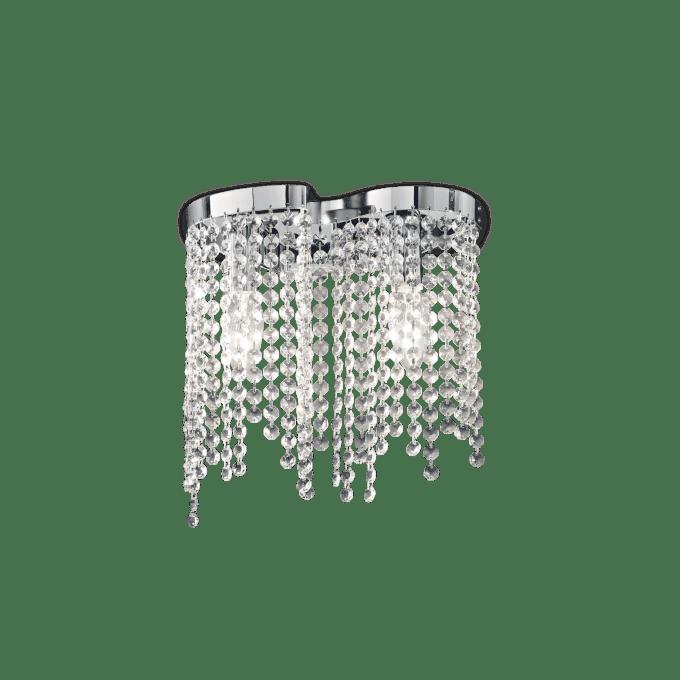 Lámpara de pared de Cristal y color Cromo