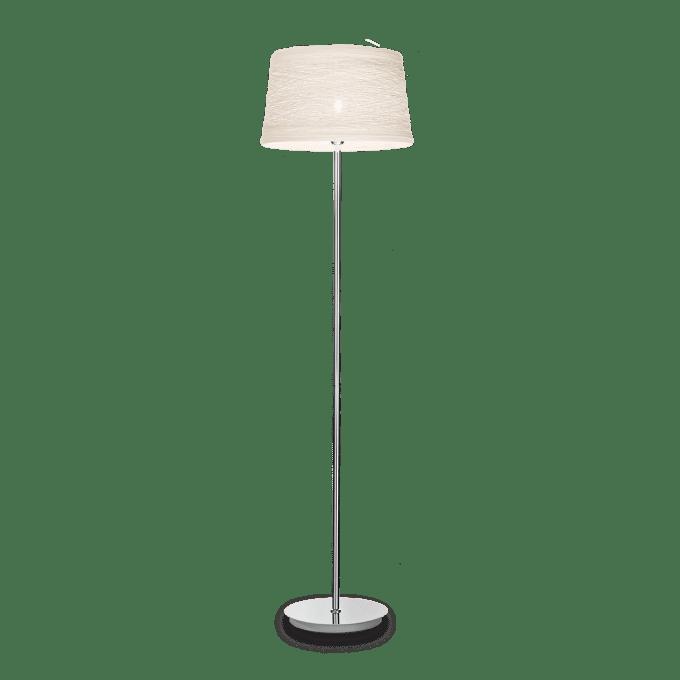 Lámpara de pie de Fibra y color Blanco