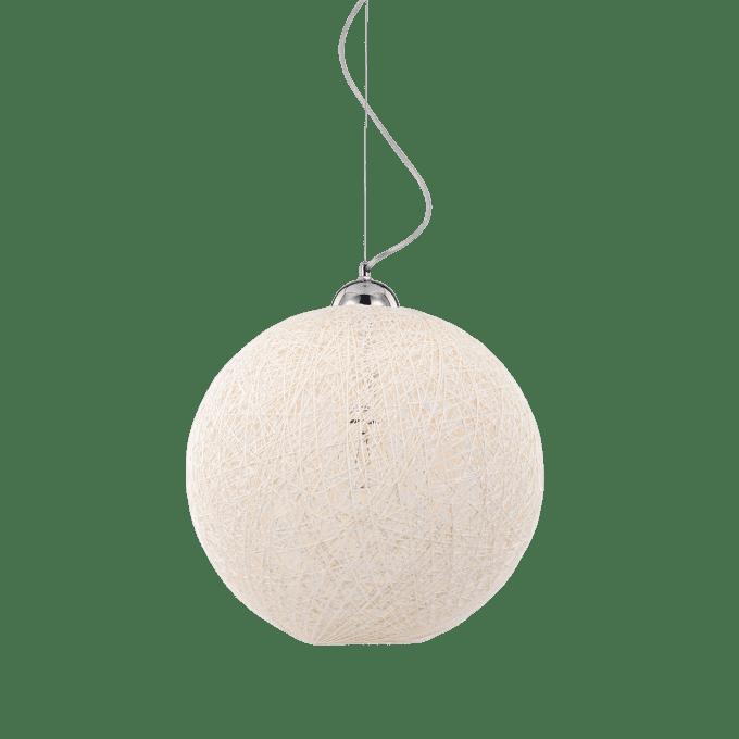 Lámpara colgante de Fibra y color Blanco