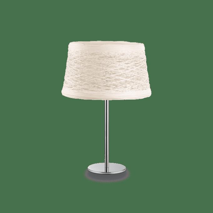 Lámpara de sobremesa de Fibra y color Blanco