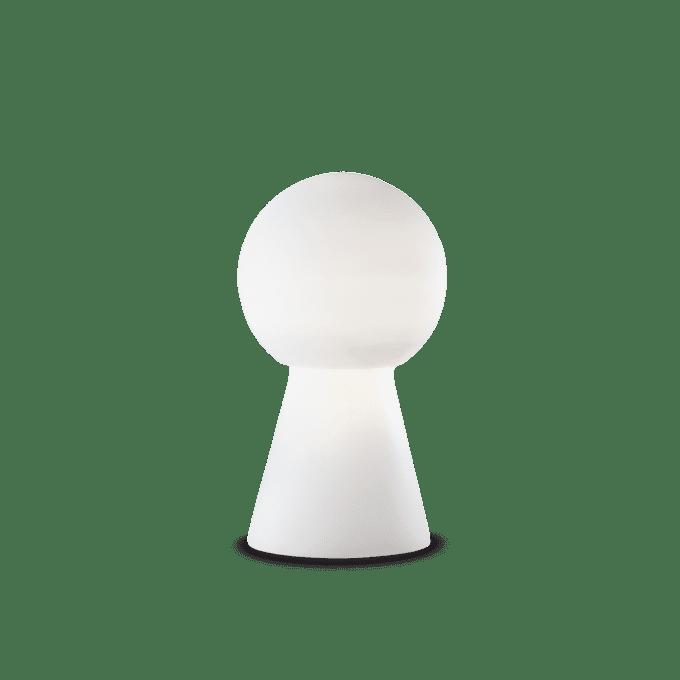Lámpara de sobremesa de Cristal y color Blanco