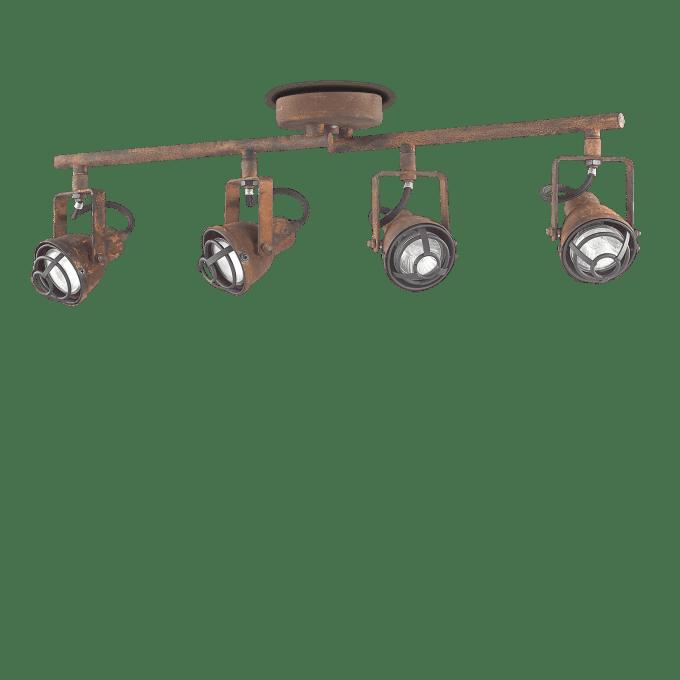 Lámpara de techo de Hierro y color Marrón
