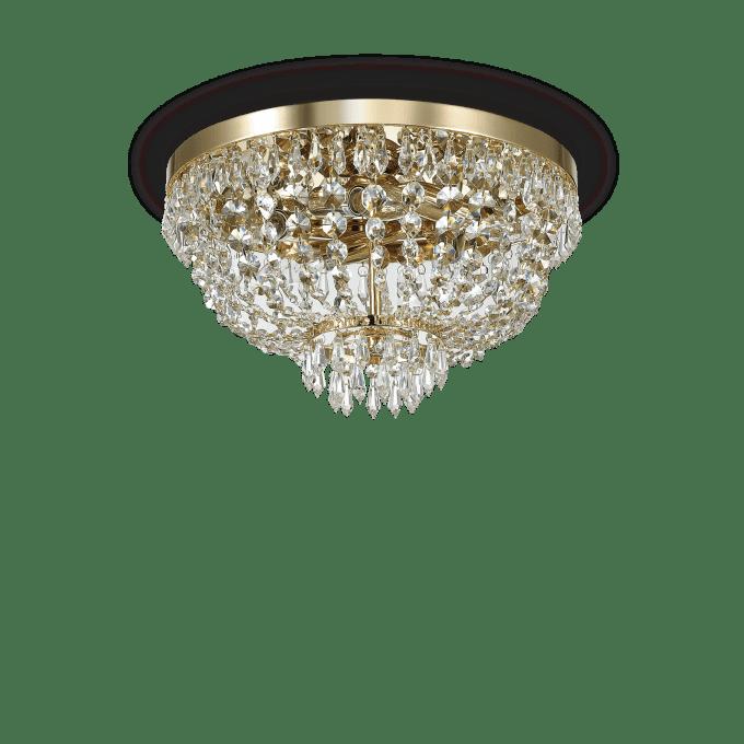 Lámpara de techo de Cristal y color Oro