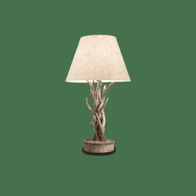 Lámpara de sobremesa de Resina y color BEIGE