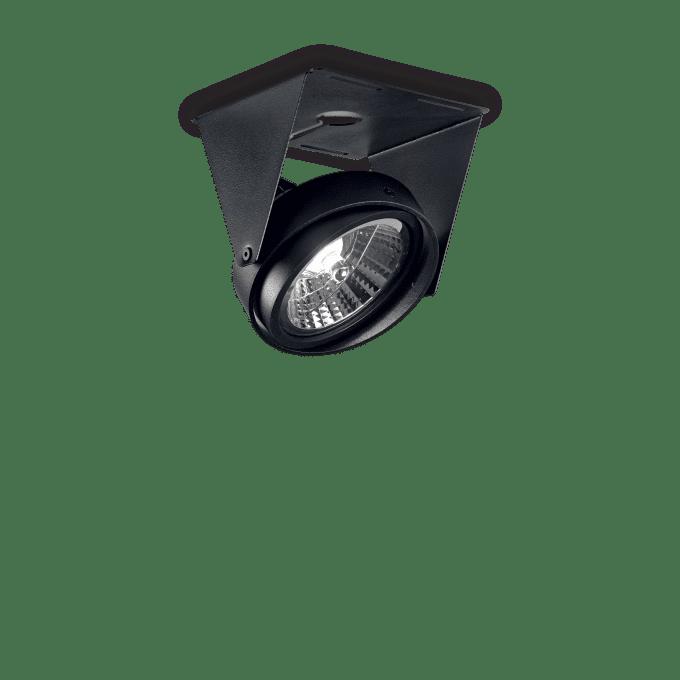 Lámpara de techo de Aluminio y color Negro