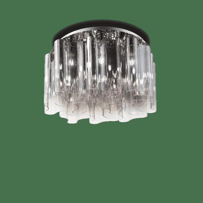 Lámpara de techo de Vidrio Soplado y color Fumé