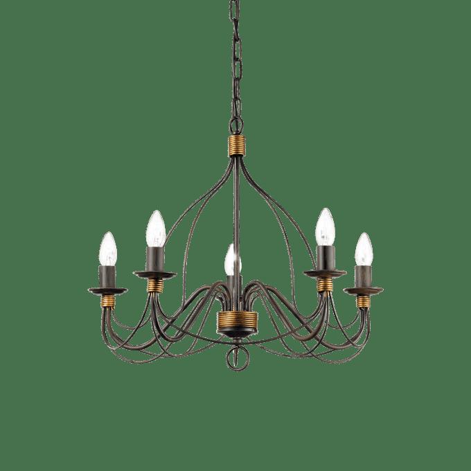 Lámpara colgante de Hierro y color Marrón