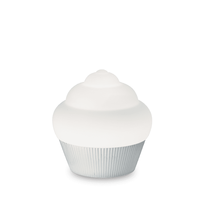 Lámpara de sobremesa de Resina y color Cromo
