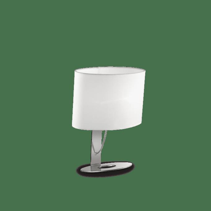 Lámpara de sobremesa de Hierro y color Blanco
