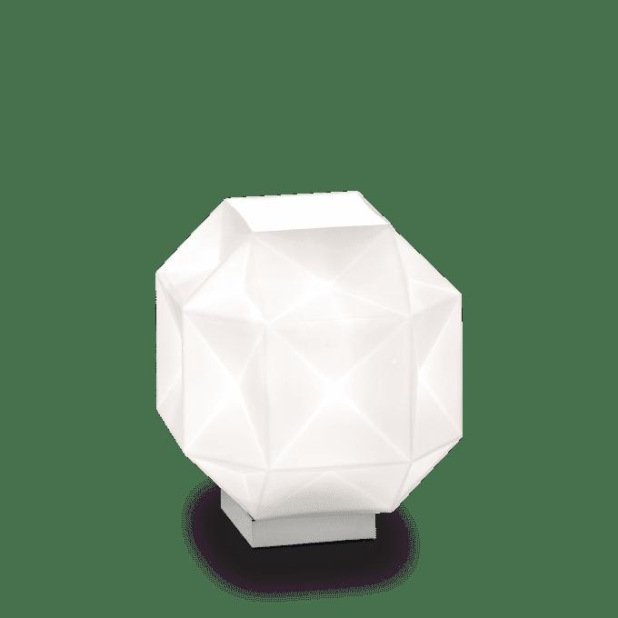 Lámpara de sobremesa de Vidrio Soplado y color Blanco