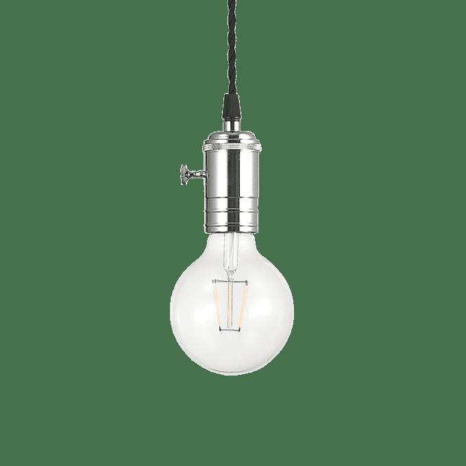 Lámpara colgante de Hierro y color Cromo