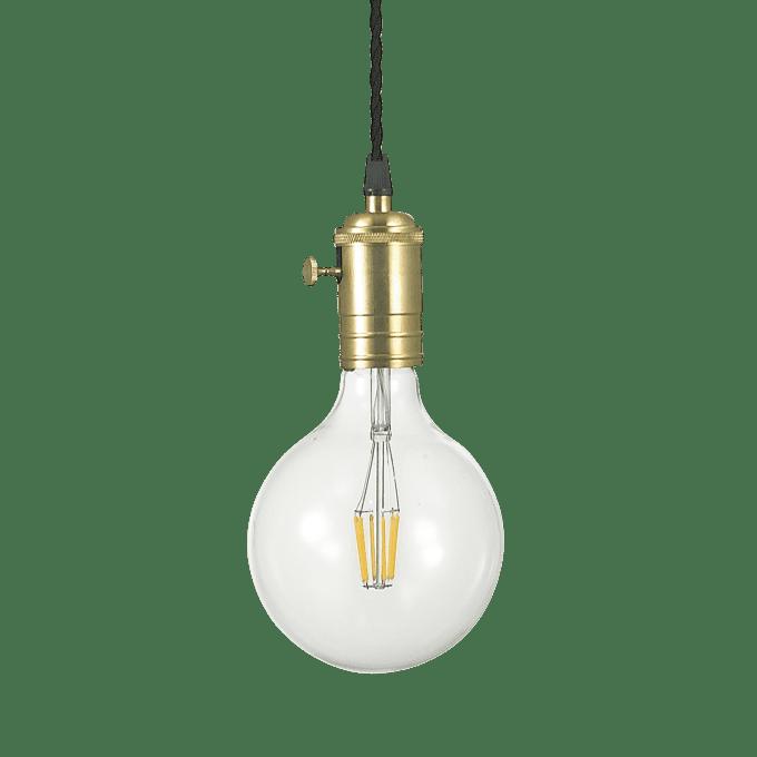 Lámpara colgante de Hierro y color Latón