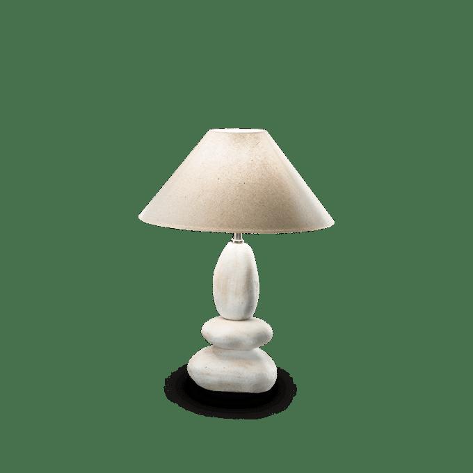 Lámpara de sobremesa de Cerámica y color Piedra