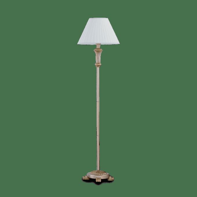 Lámpara de pie de Resina y color Oro