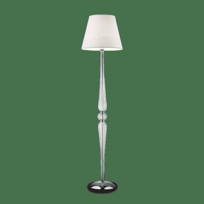Lámpara de pie de Cristal y color Transparente