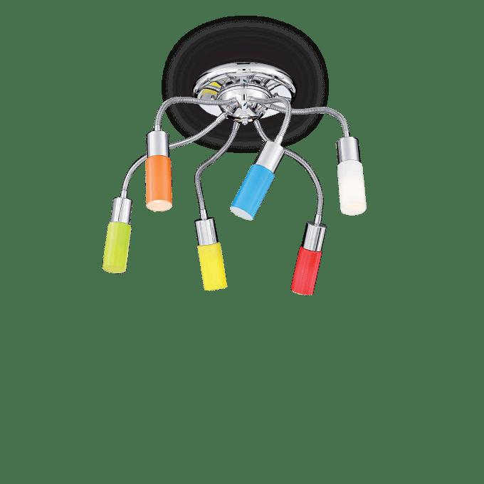 Lámpara de techo de Hierro y color Multicolor