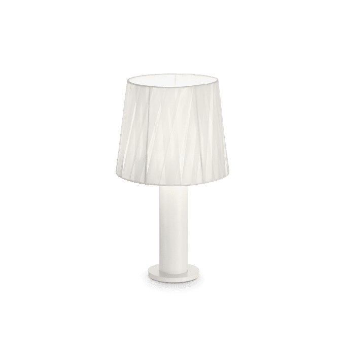 Lámpara de sobremesa de Tela y color Blanco