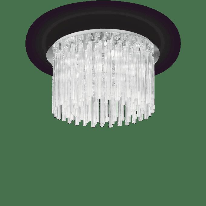 Lámpara de techo de Cristal y color Transparente