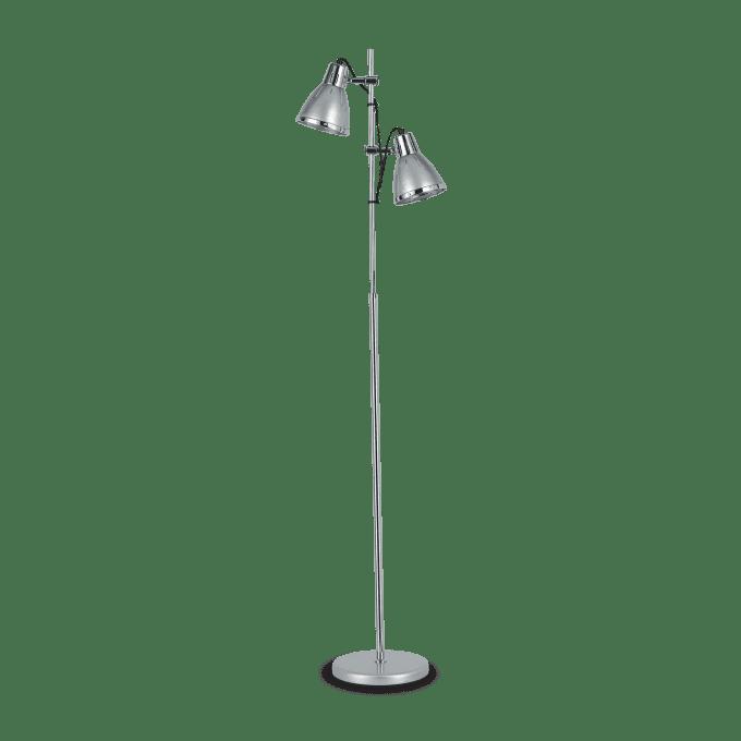 Lámpara de pie de Hierro y color Plata